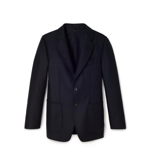 DOUBLE FACED WOOL FLANNEL O'CONNOR JACKET A fullsize