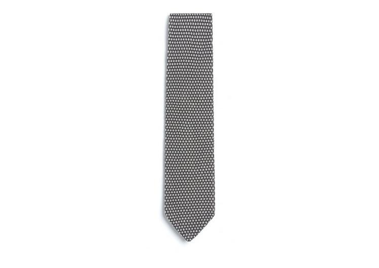 CIRCLE WEAVE KNITTED SILK TIE A fullsize