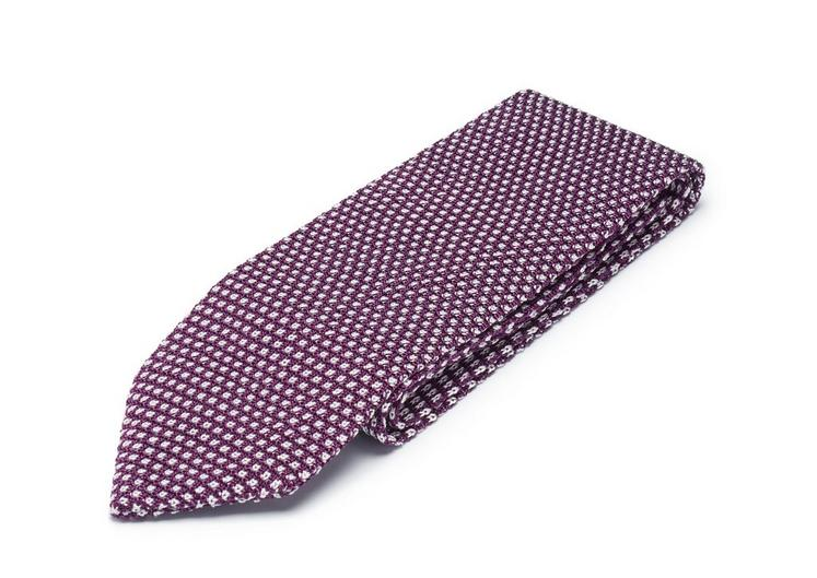 CIRCLE WEAVE KNITTED SILK TIE C fullsize