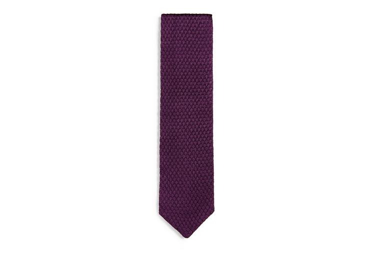 RAISED TEXTURED KNIT TIE A fullsize