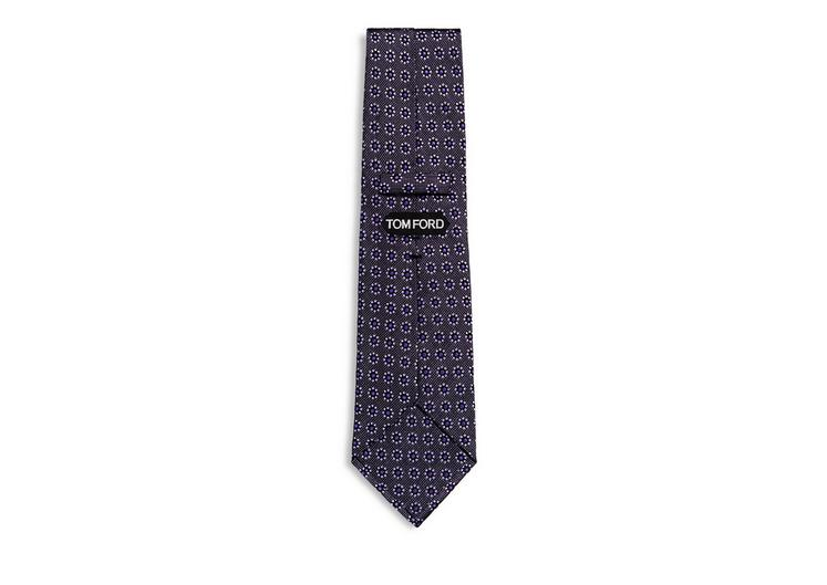 DOTTED FLOWER ON PIN DOTS CLASSIC SILK TIE B fullsize