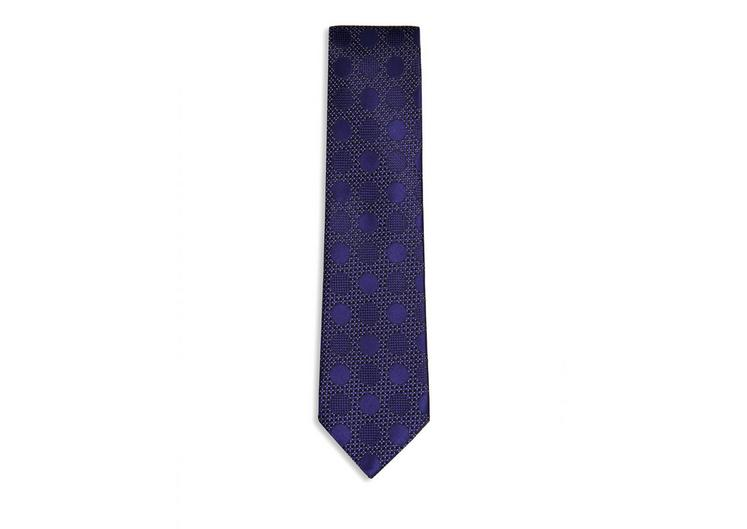 FANCY TONAL DOT CLASSIC SILK TIE A fullsize