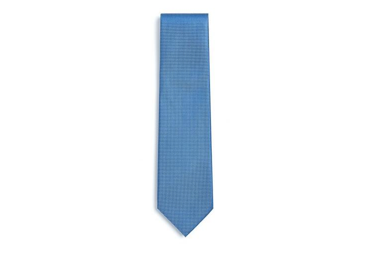 COMPACT BASKETWEAVE SILK TIE A fullsize