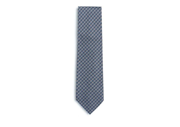 DIAGONAL CRISS CROSS SILK TIE A fullsize