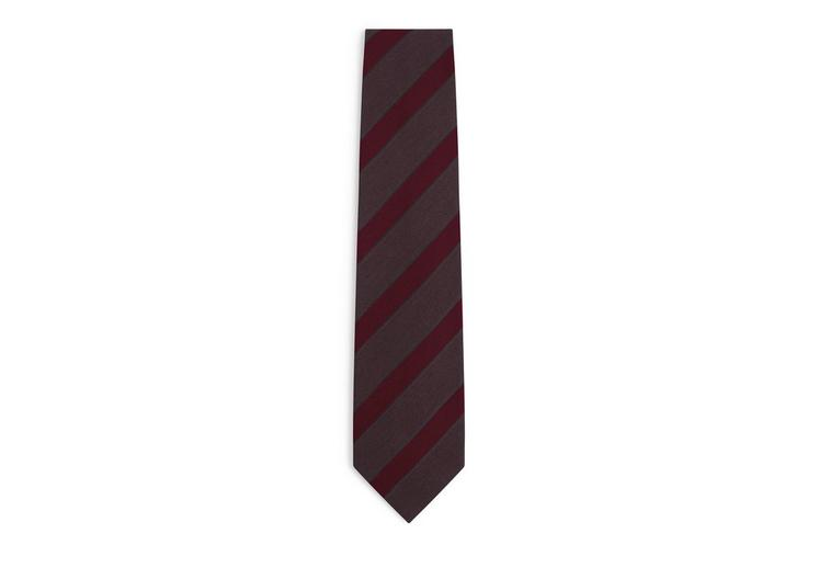 Colorblock Stripe Tie by Tom Ford