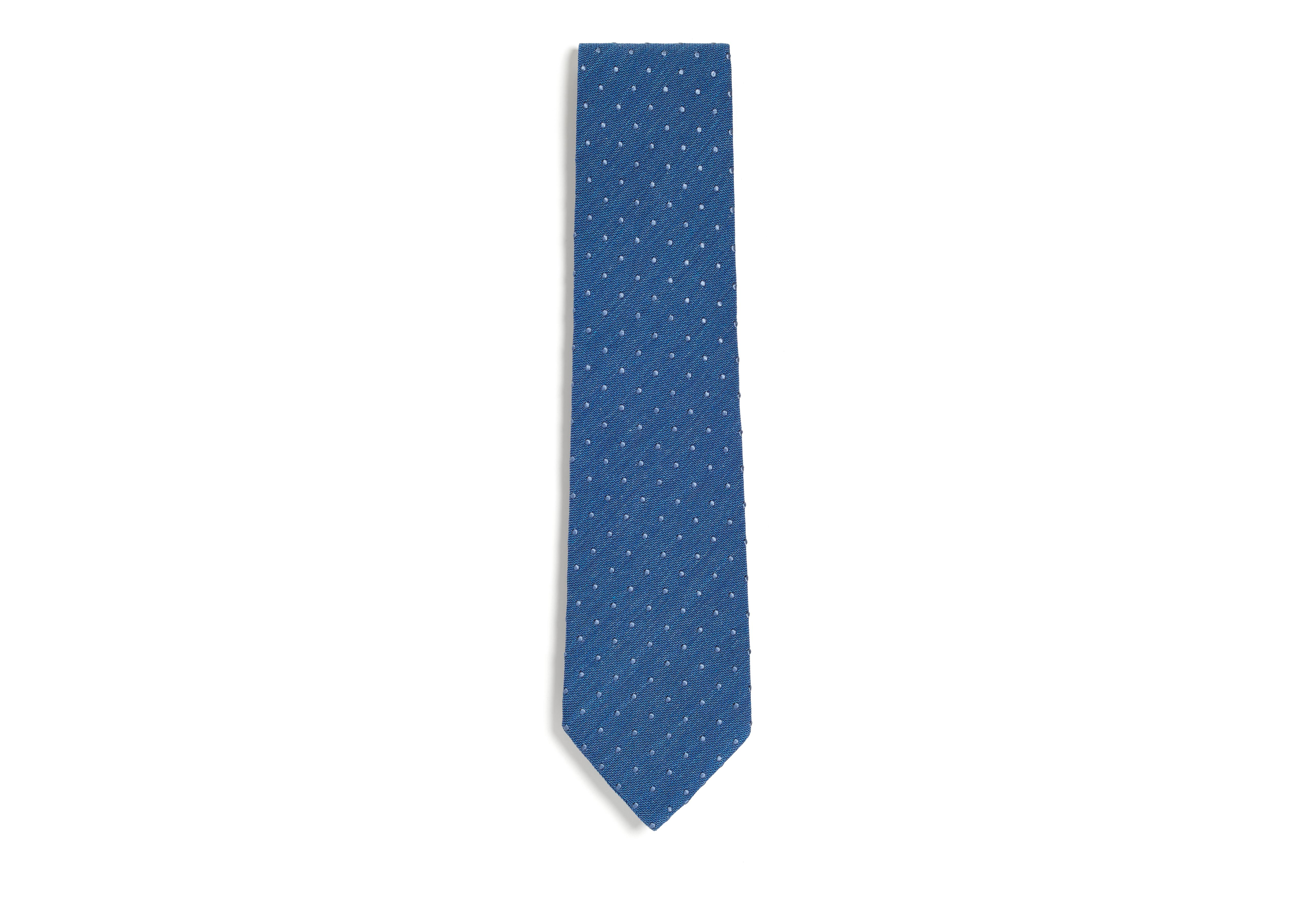 TEXTURED COTTON DOT CLASSIC TIE A thumbnail