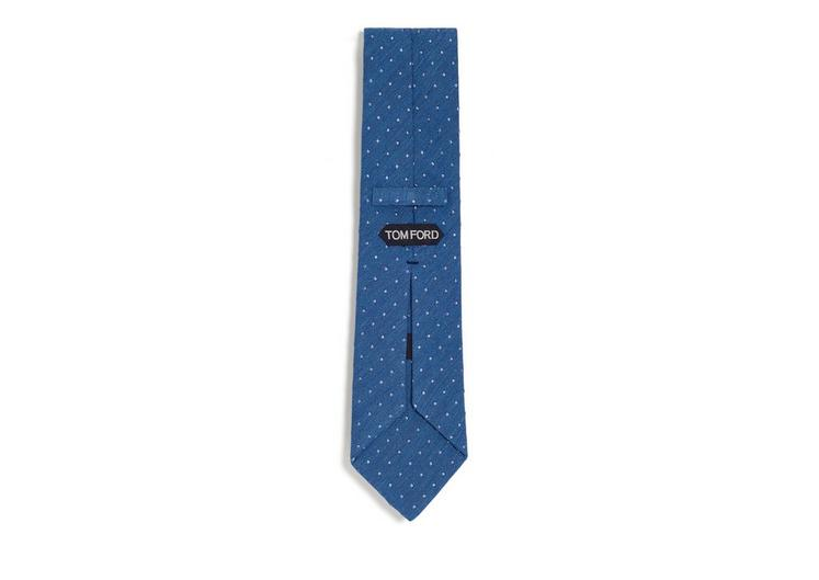 TEXTURED COTTON DOT CLASSIC TIE B fullsize