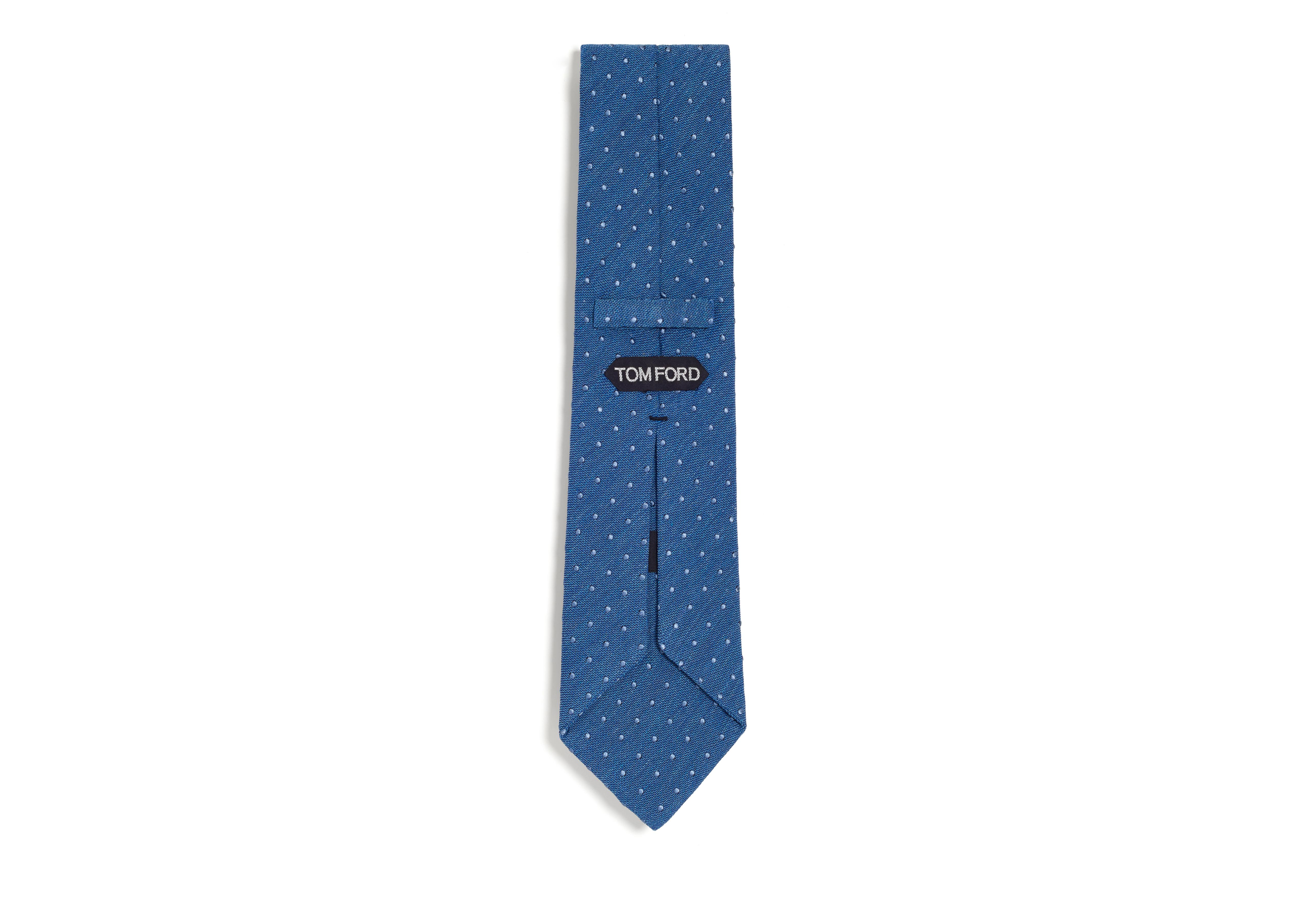 TEXTURED COTTON DOT CLASSIC TIE B thumbnail