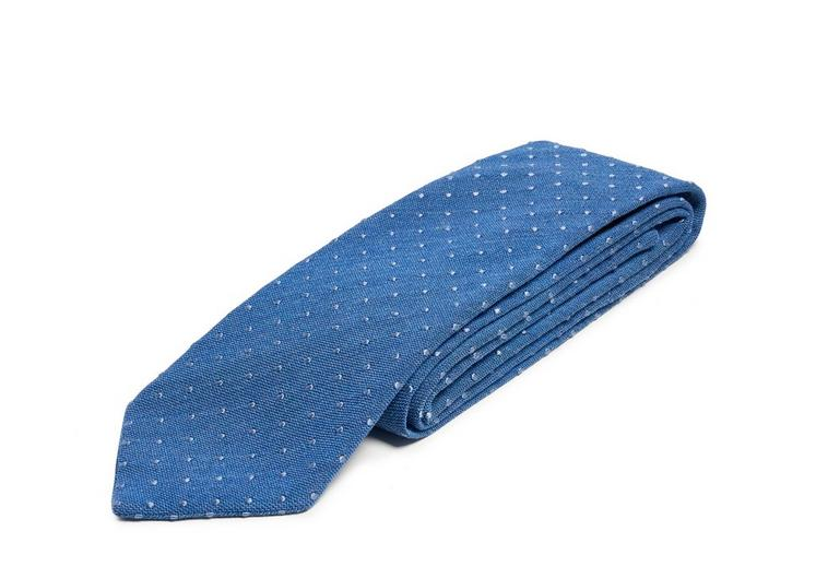 TEXTURED COTTON DOT CLASSIC TIE C fullsize
