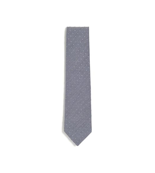 TEXTURED COTTON DOT CLASSIC TIE