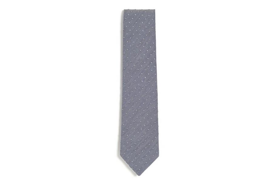 TEXTURED COTTON DOT CLASSIC TIE A fullsize