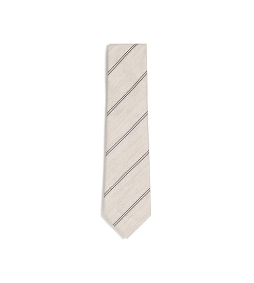 SPACED DOUBLE STRIPE TWILL CLASSIC TIE