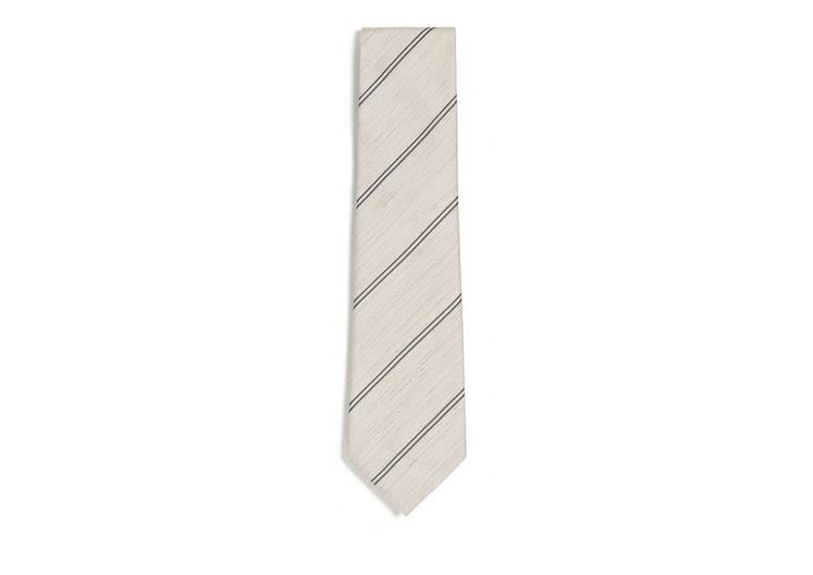 SPACED DOUBLE STRIPE TWILL CLASSIC TIE A fullsize