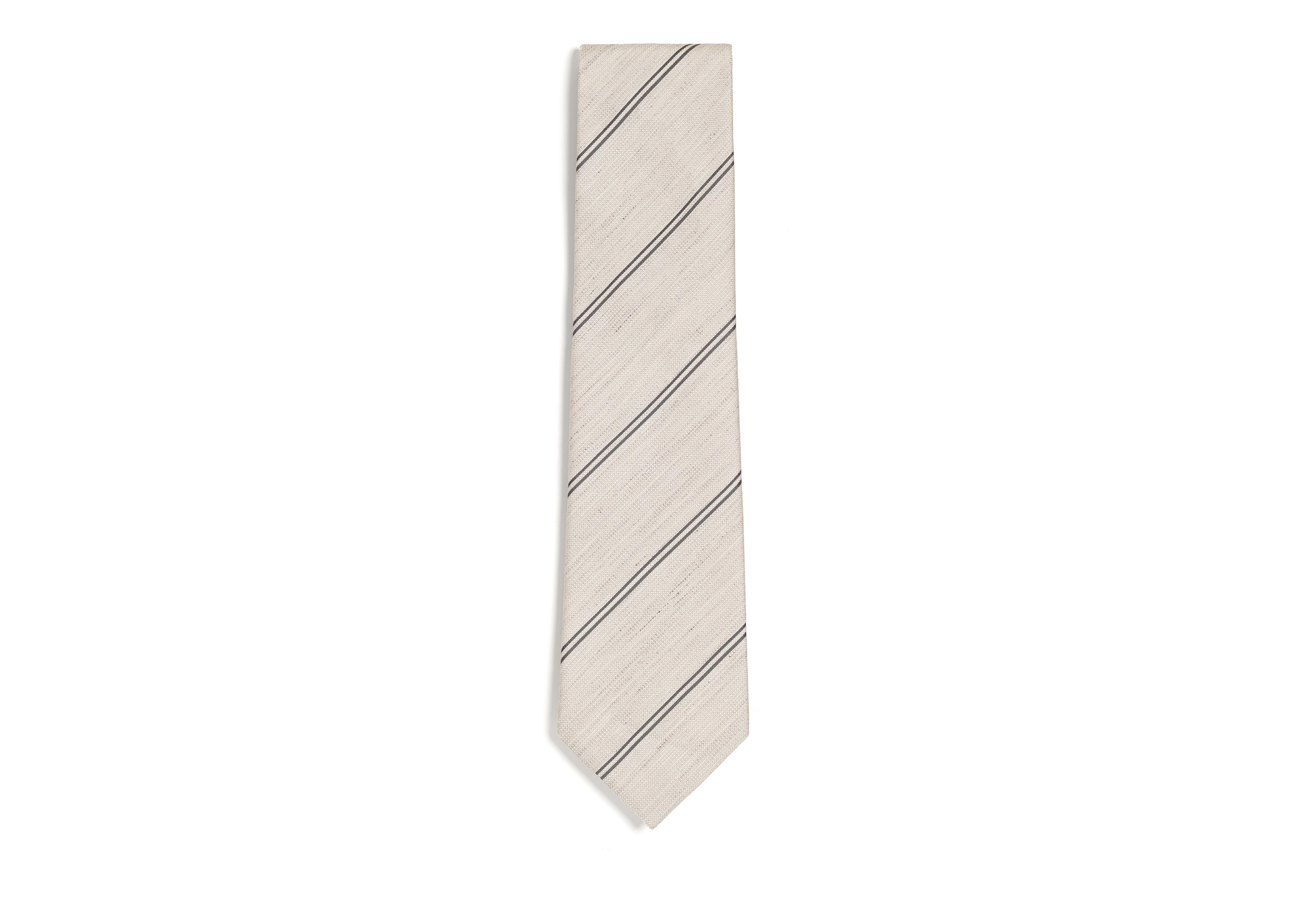 SPACED DOUBLE STRIPE TWILL CLASSIC TIE A thumbnail