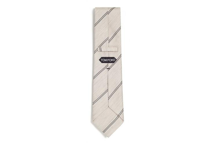 SPACED DOUBLE STRIPE TWILL CLASSIC TIE B fullsize