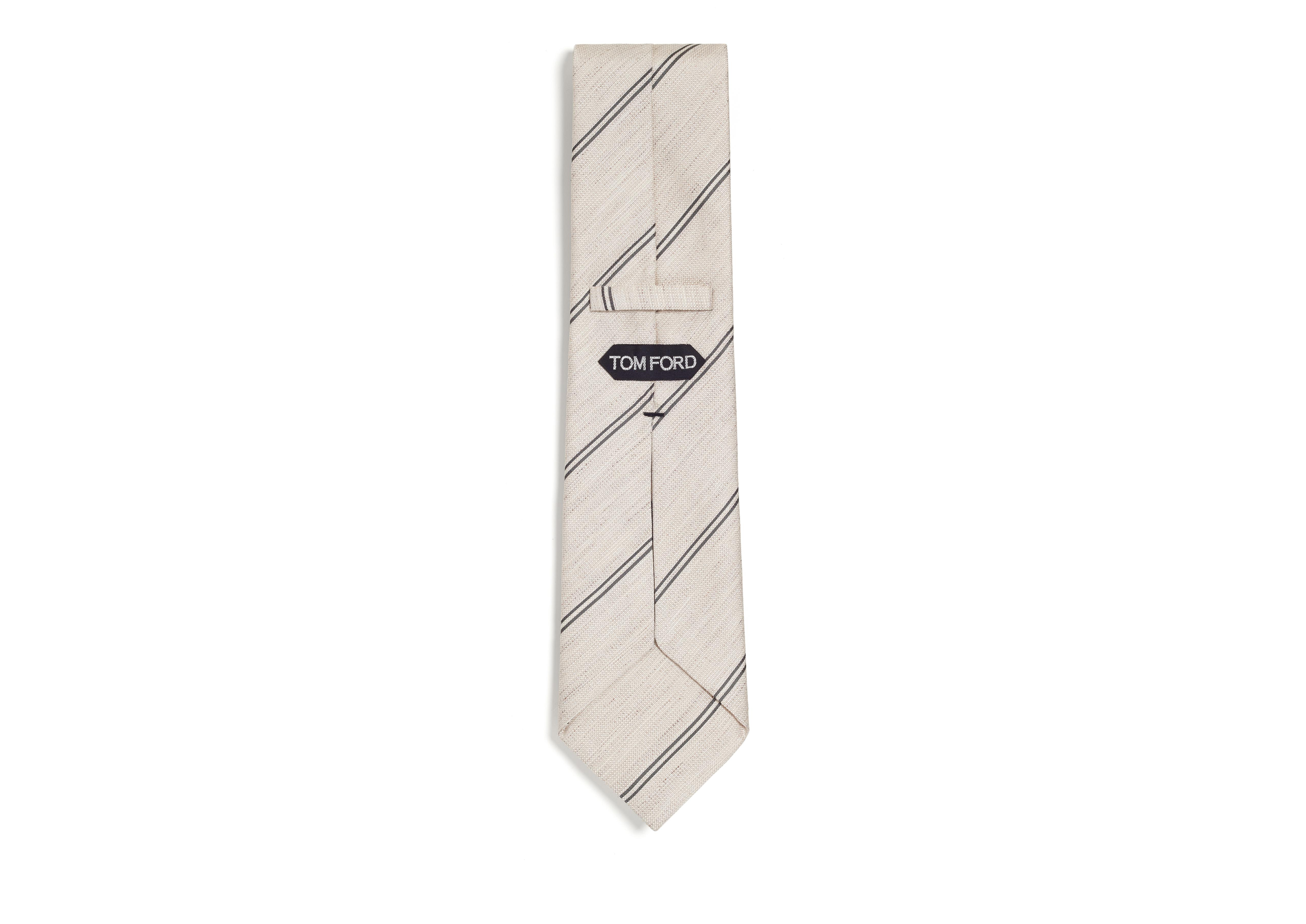 SPACED DOUBLE STRIPE TWILL CLASSIC TIE B thumbnail