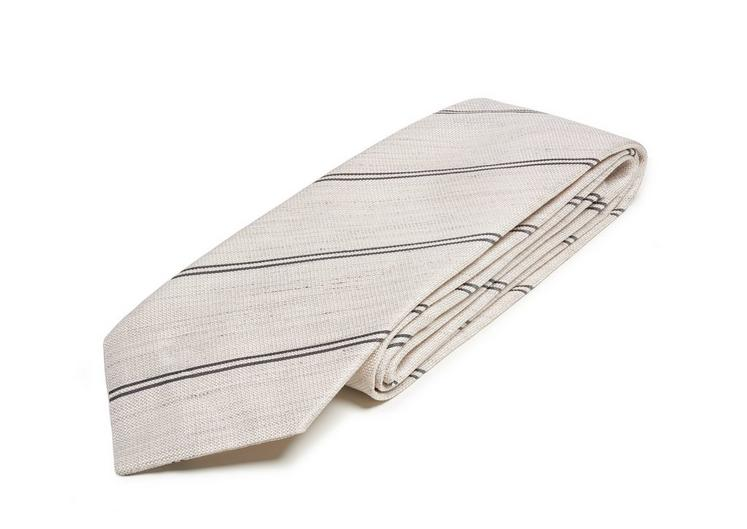 SPACED DOUBLE STRIPE TWILL CLASSIC TIE C fullsize