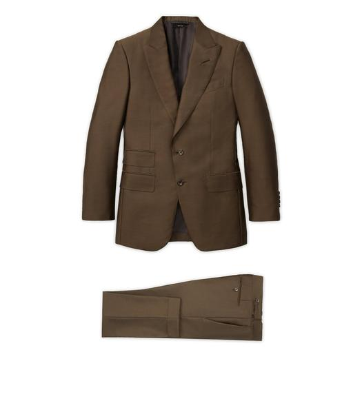 MILITARY GREEN HIGH MOHAIR SILK ATTICUS SUIT