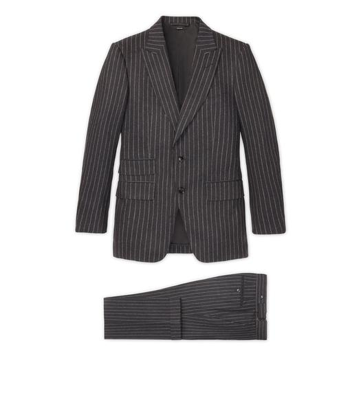GREY FLANNEL STRIPE ATTICUS SUIT