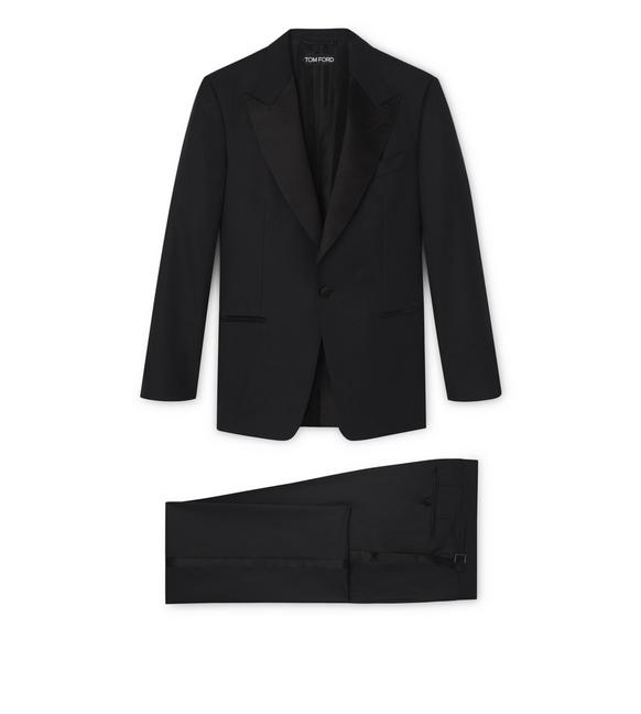 WINDSOR SUIT WITH SATIN PEAK LAPEL A fullsize