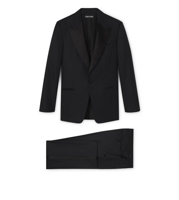 WINDSOR TUXEDO WITH SATIN PEAK LAPEL A fullsize