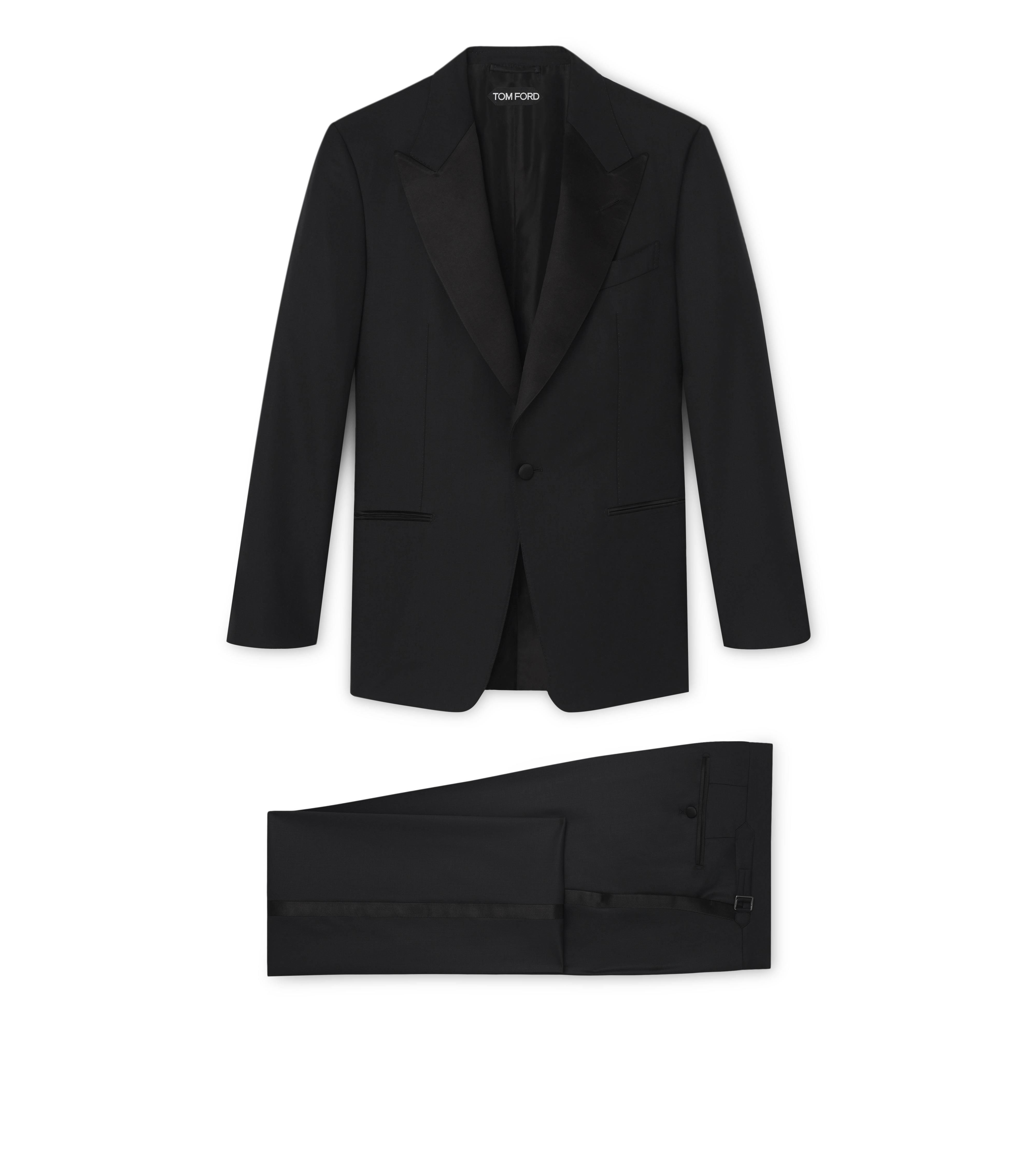 WINDSOR SUIT WITH SATIN PEAK LAPEL A thumbnail
