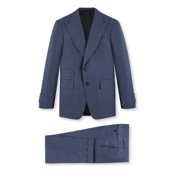 SHARKSKIN WOOL SHELTON SUIT A fullsize