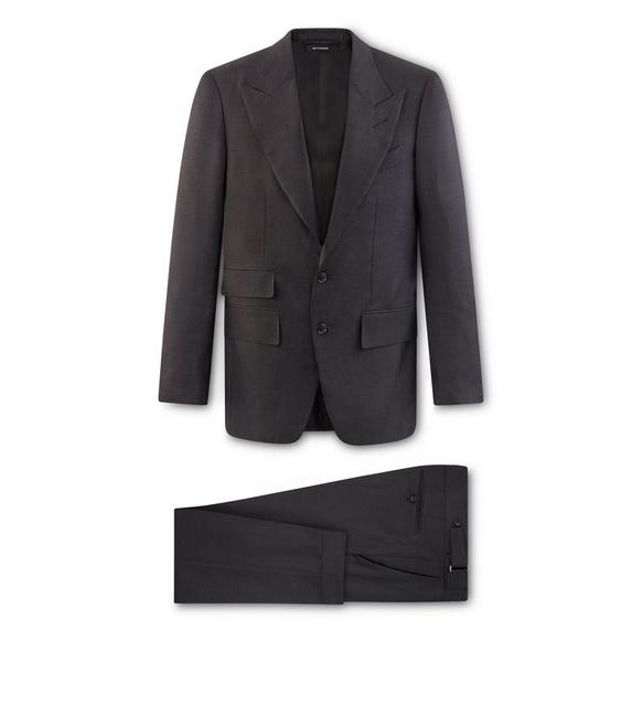 CHARCOAL WOOL PINPOINT SHELTON SUIT A fullsize