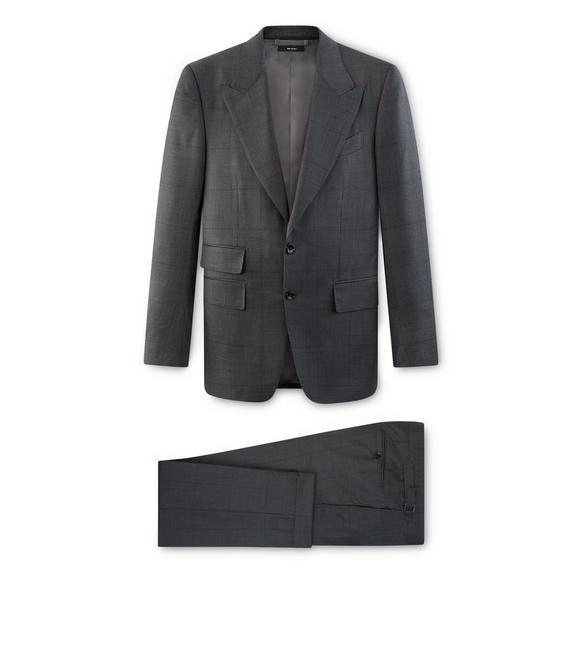 GREY PRINCE OF WALES SHELTON SUIT A fullsize