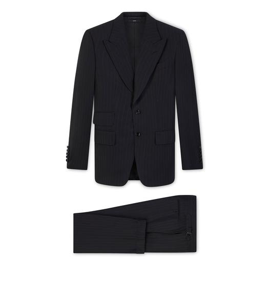 BLACK PINSTRIPE SHELTON SUIT