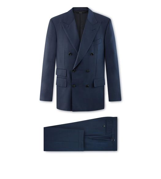 BLUE SHARKSKIN O'CONNOR SUIT