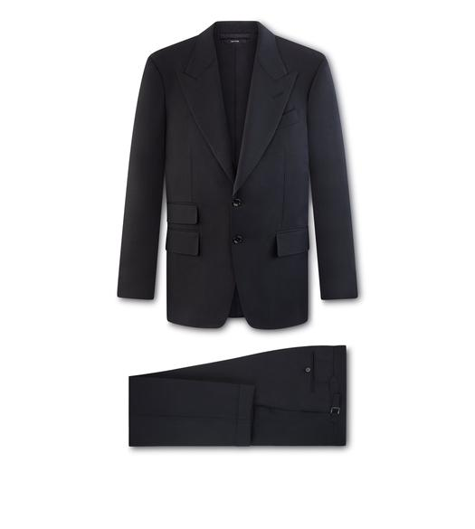BLACK HERRINGBONE O'CONNOR SUIT
