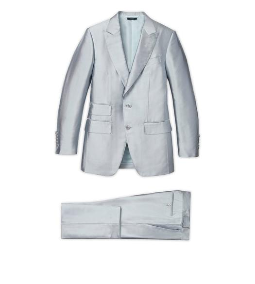 BLUE SILK SHINE ATTICUS SUIT