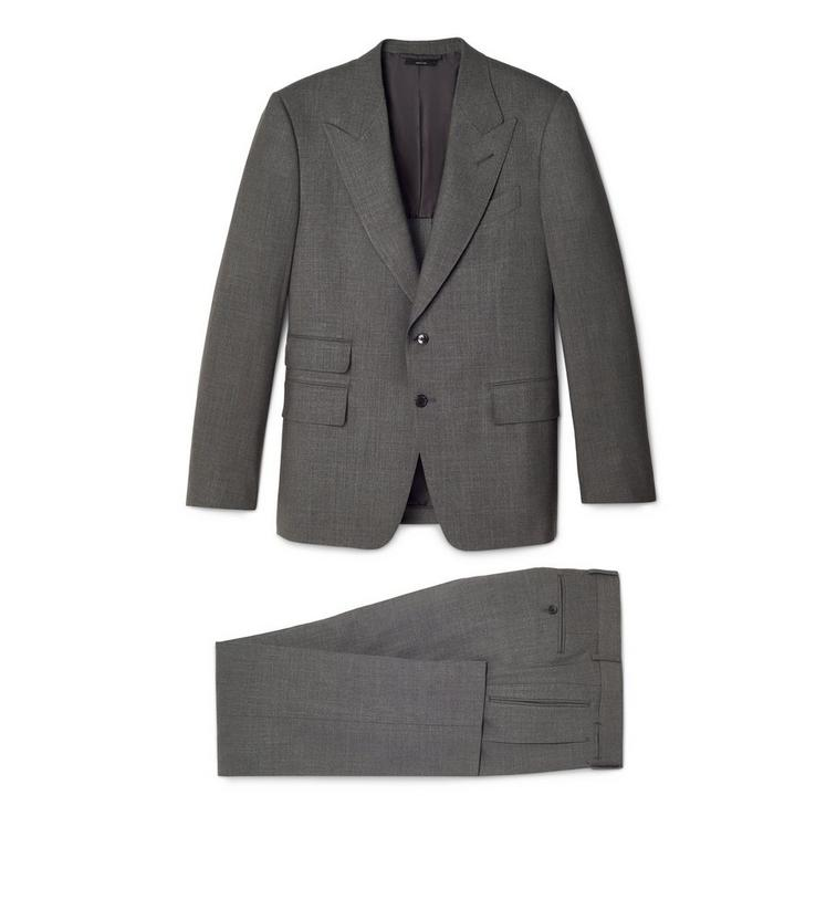 WOOL SILK CANVAS SHELTON TWO PIECE SUIT A fullsize