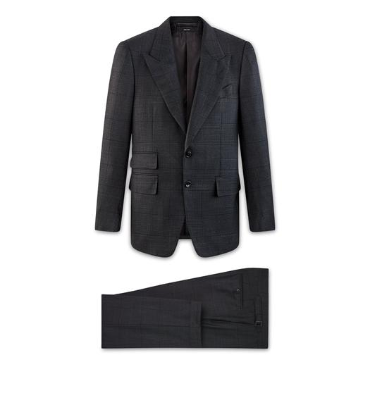 BLACK WOOL SHELTON SUIT