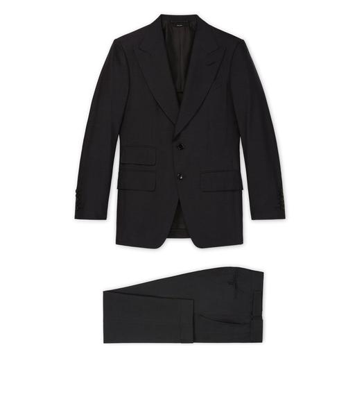 BLACK SILK SHELTON SUIT