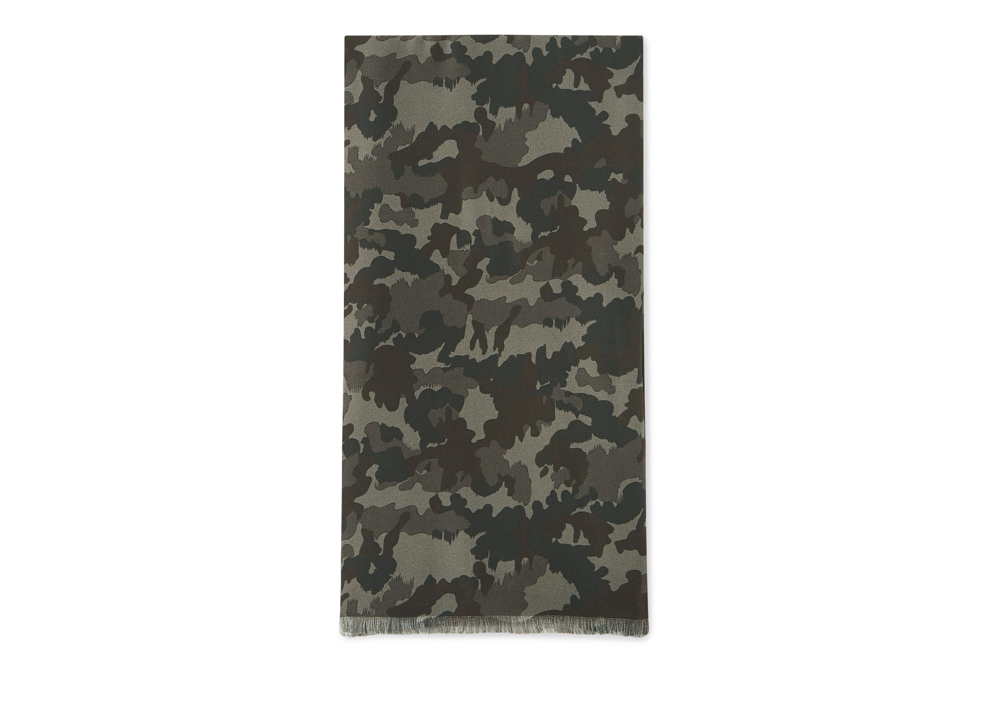 CAMOUFLAGE SILK SCARF A thumbnail