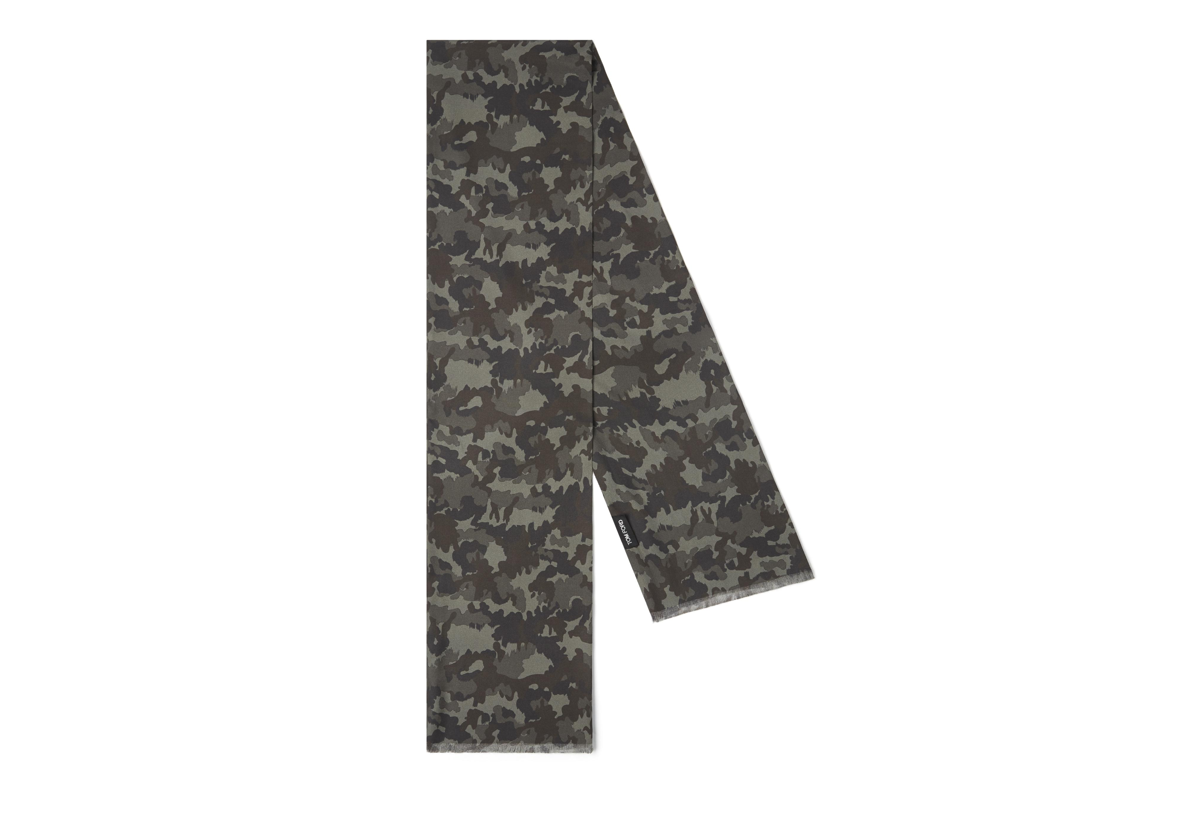 CAMOUFLAGE SILK SCARF B thumbnail