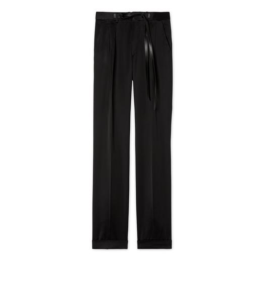 HIGH SHINE SATIN VISCOSE ATTICUS TROUSERS