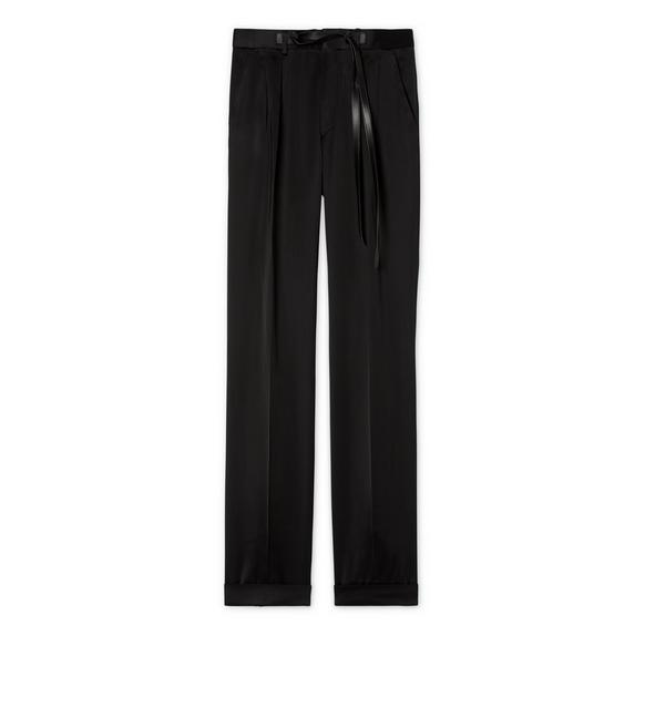 HIGH SHINE SATIN VISCOSE ATTICUS TROUSERS A fullsize