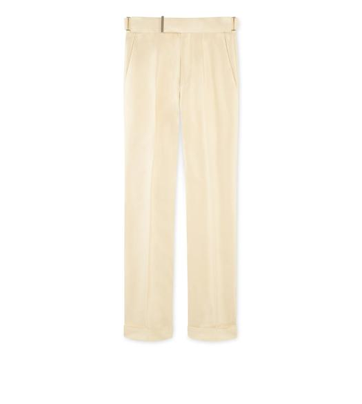 YELLOW SILK ATTICUS TROUSERS