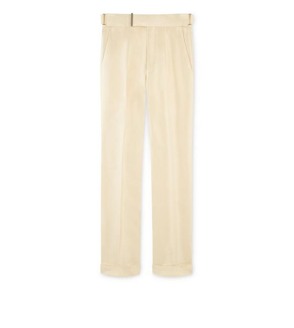 YELLOW SILK ATTICUS TROUSERS A fullsize