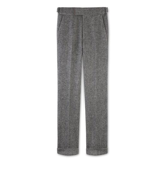 HERRINGBONE TWEED ATTICUS TROUSERS