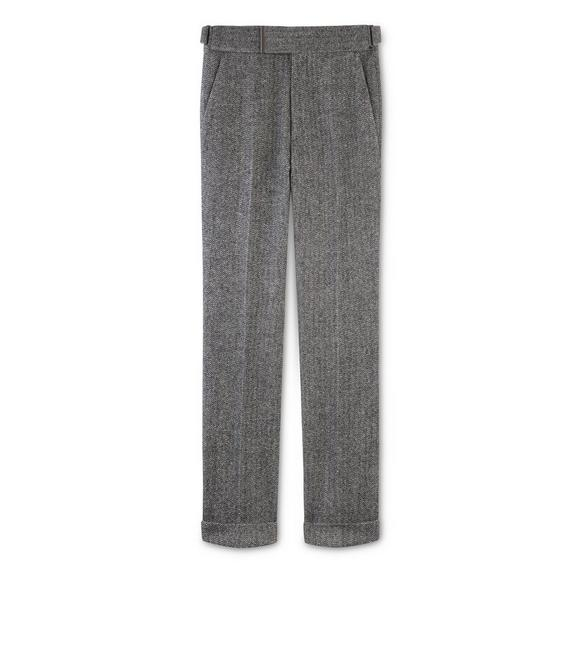HERRINGBONE TWEED ATTICUS TROUSERS A fullsize