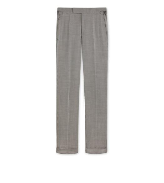 GREY PIED DE POULE O'CONNOR TROUSERS