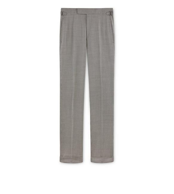 GREY PIED DE POULE O'CONNOR TROUSERS A fullsize