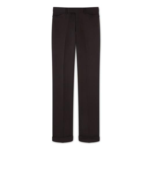 BROWN MOHAIR SHELTON TROUSERS