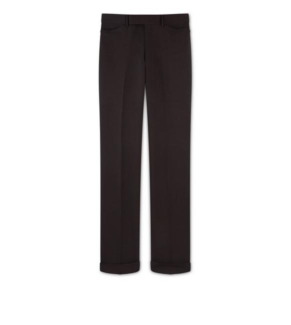 BROWN MOHAIR SHELTON TROUSERS A fullsize