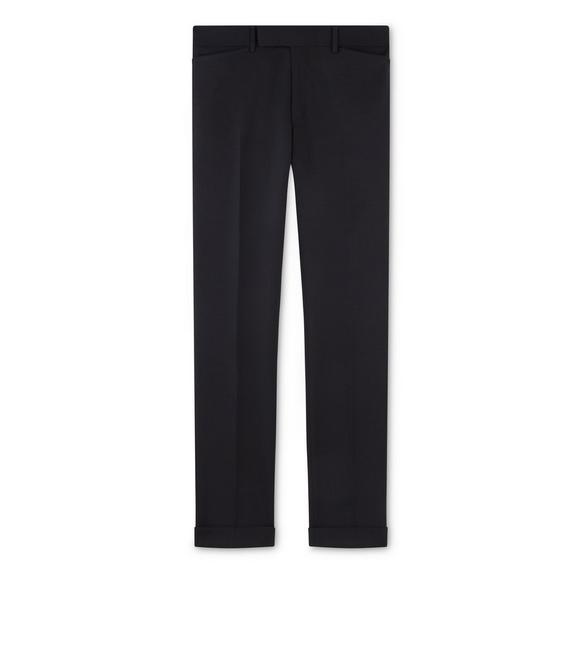 BLACK MOHAIR SHELTON TROUSERS A fullsize