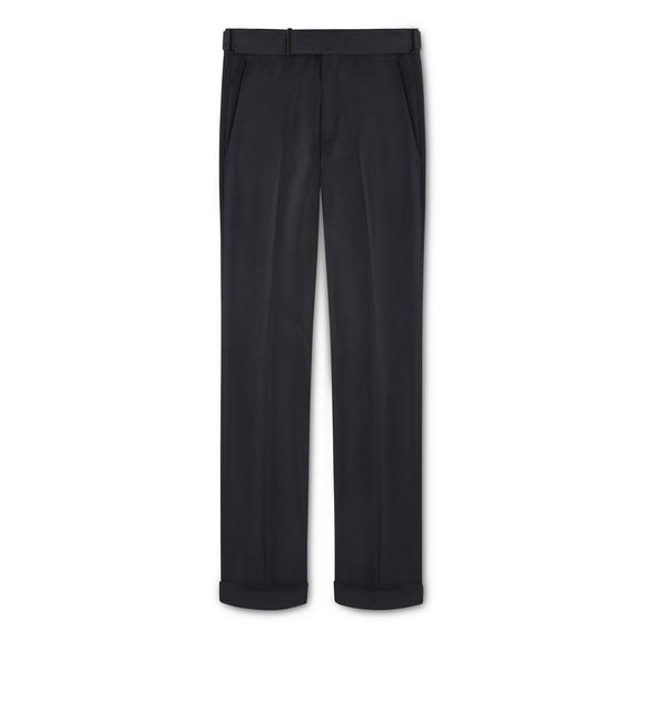 BLACK COTTON ATTICUS TROUSERS A fullsize